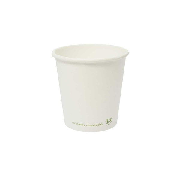 LV-12C Vegware™ Compostable 12-ounce White Single Wall Hot Cups