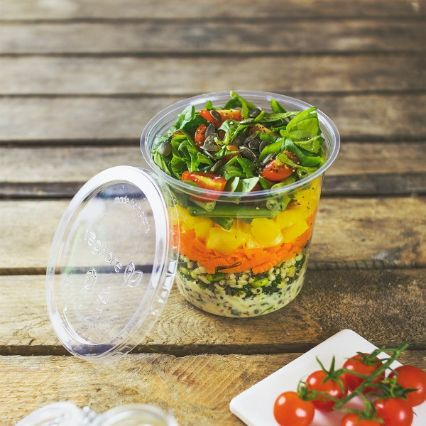 CF-DC-24 Vegware™ Compostable Clear Round Deli Containers (24-oz)