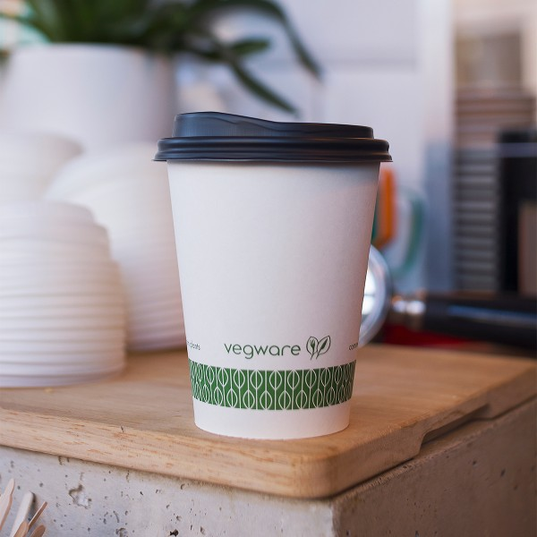 LV-12G Vegware™ 89-series PLA-Lined Compostable 12-ounce Single Wall Hot Paper Cups