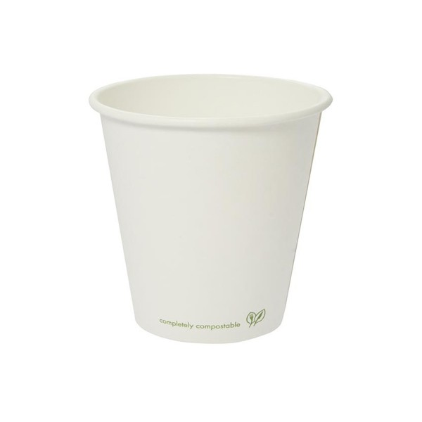 LV-10C Vegware™ Compostable 10-ounce White Single Wall Hot Cups
