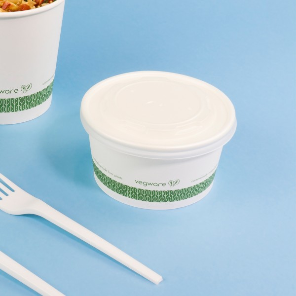 SC-12G Vegware™ Compostable 12-ounce Paper Food Containers, 115-Series
