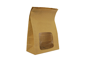 #VBLOOM2 Vegware™ Compostable Kraft NatureFlex Window Bloomer Bags