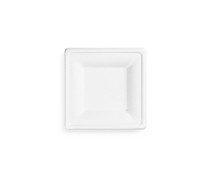 VPSQ-06 Vegware Compostable Bagasse Square Plate (6-inch)