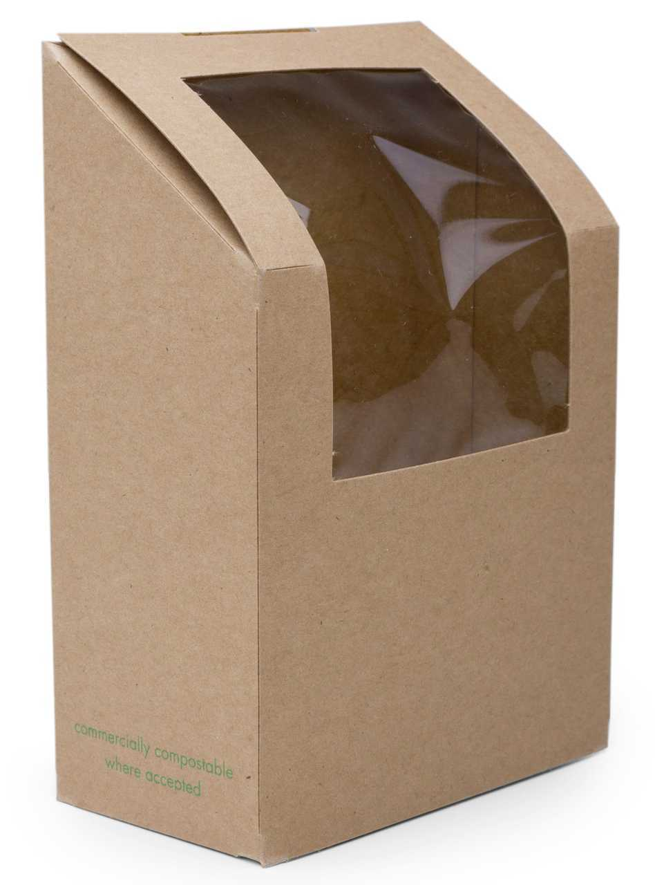 #VWWTT Vegware™ Compostable Kraft Window Take Away Food Boxes