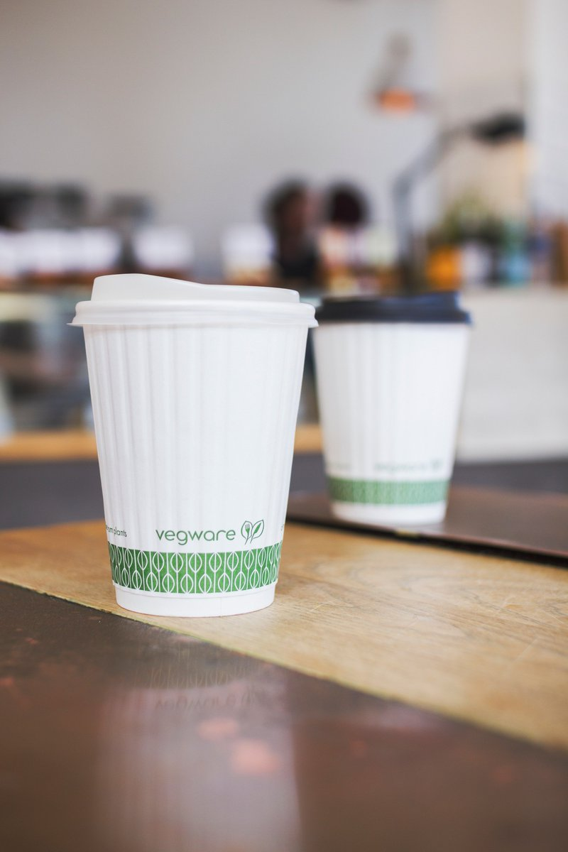 Vegware Compostable Insulated Hot Cups