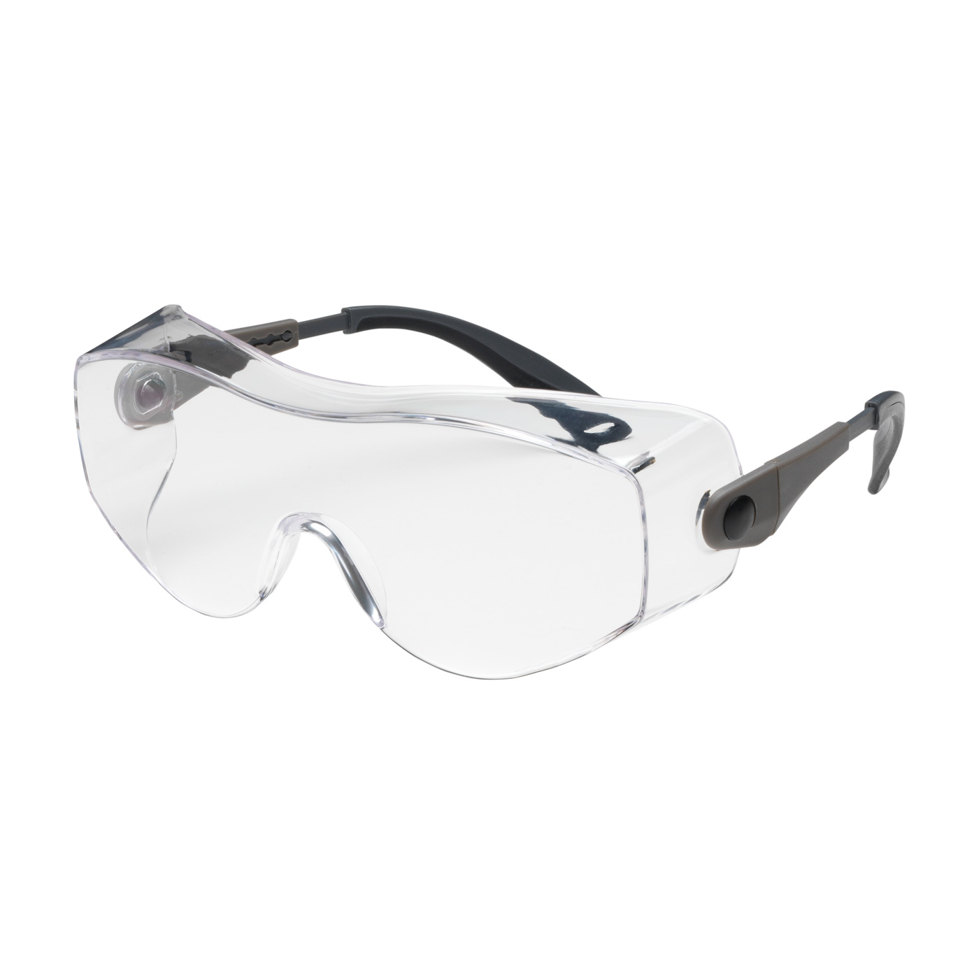 #250-98-0020 PIP OverSite™ OTG Rimless Safety Glasses with Black / Gray Temple, Clear Lens and Anti-Scratch/Fog Coating