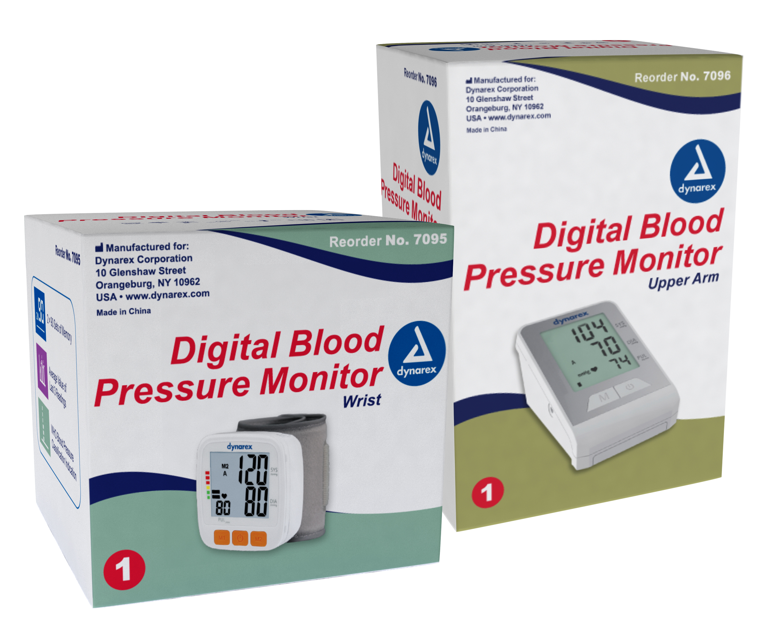 #7095 Dynarex Digital Blood Pressure Monitors for Wrist