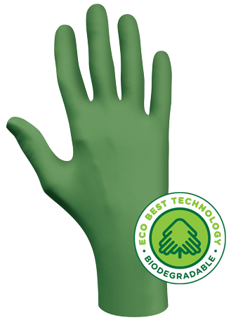 6110PF Showa® GREEN-DEX™ Biodegradable  Single-Use Powder-Free Nitrile Gloves