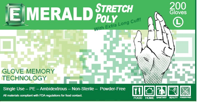 Emerald Stretch Poly Gloves