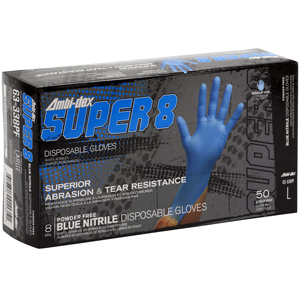 #63-338PF PIP 8-Mil Ambi-dex® Super 8 Disposable Powder-Free Nitrile Gloves
