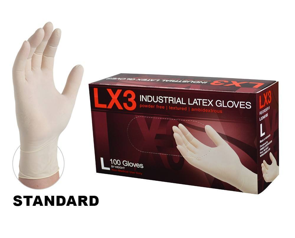 Ammex® LX3 Latex Industrial Gloves