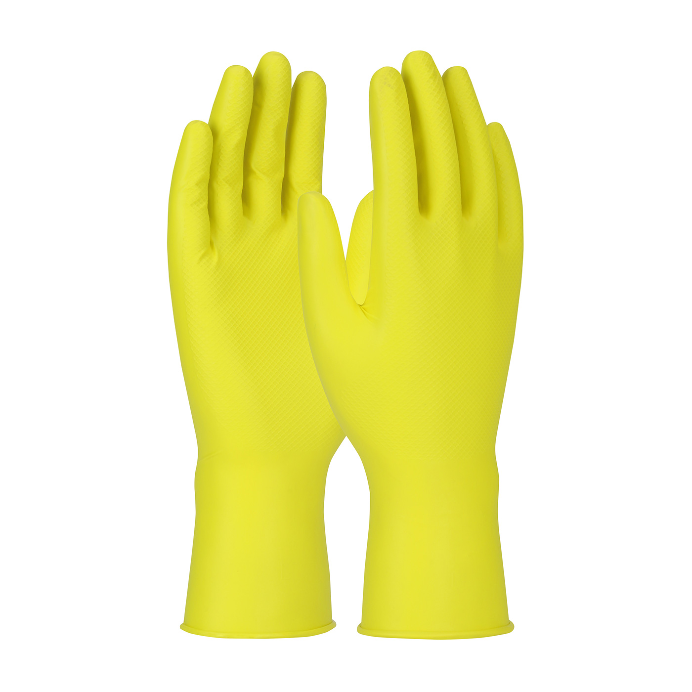 #67-306 PIP® Grippaz™ Yellow 6-mil Jan San Nitrile Gloves