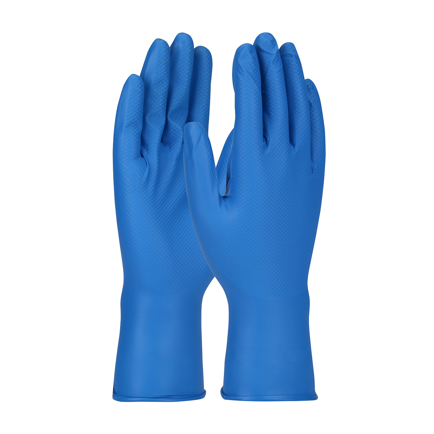 PIP® Ambi-dex® Grippaz™ Food Plus 8-mil Blue Nitrile Gloves