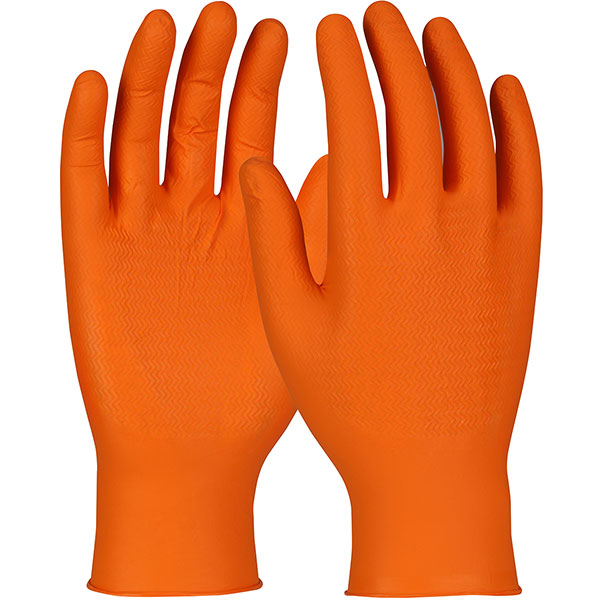 #SWX00438 PIP Orange Ambi-dex® WOW™ Grip Disposable Nitrile Gloves