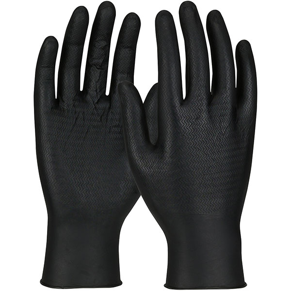 #SWX00435 PIP Black Ambi-dex® WOW™ Grip Disposable Nitrile Gloves