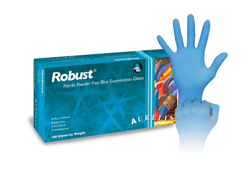 Aurelia® Robust™ Disposable Powder-Free Nitrile Exam Gloves