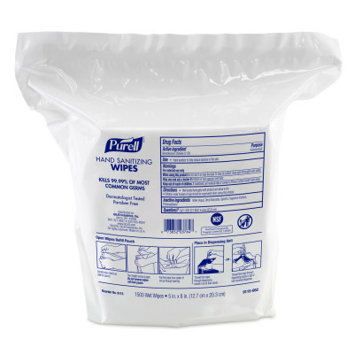 #9115-02 Purell® Alcohol-Free High Capacity Sanitizing Wipes - Refill Pouch