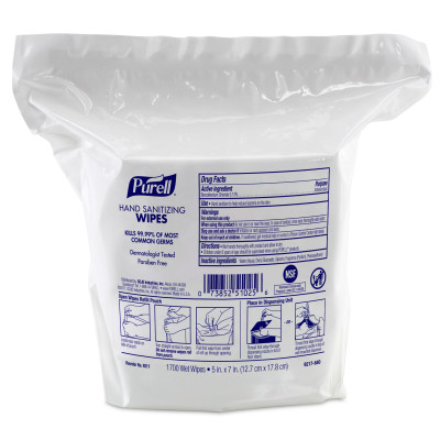 9217-02 Alcohol-free Hand Sanitizing Wipes For Purell® High Capacity Wipes Dispensers
