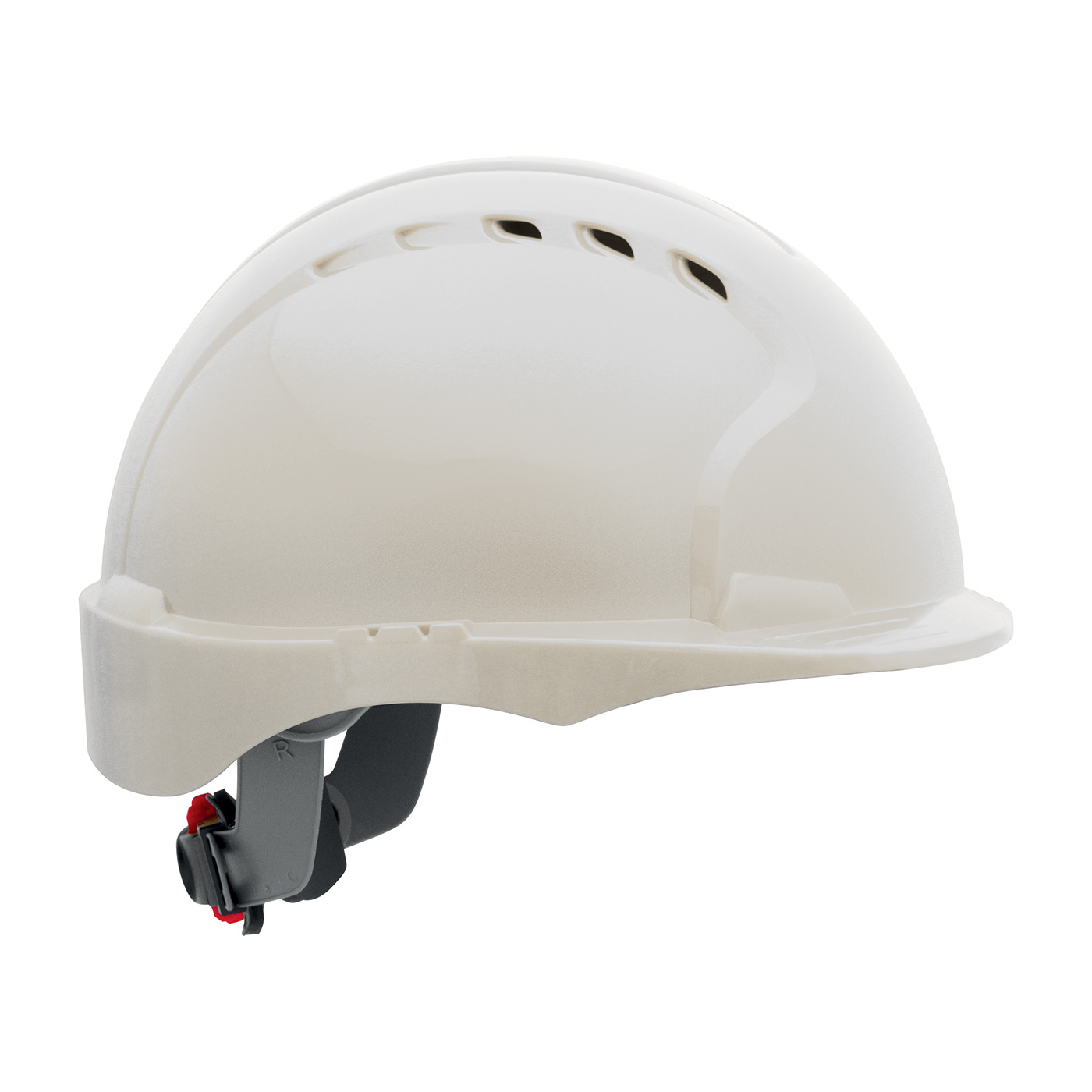 280-EV6151SV PIP® Evolution® Deluxe 6151 Vented, Short Brim Hard Hat with HDPE Shell, 6-Point Polyester Suspension and Wheel Ratchet Adjustment - White