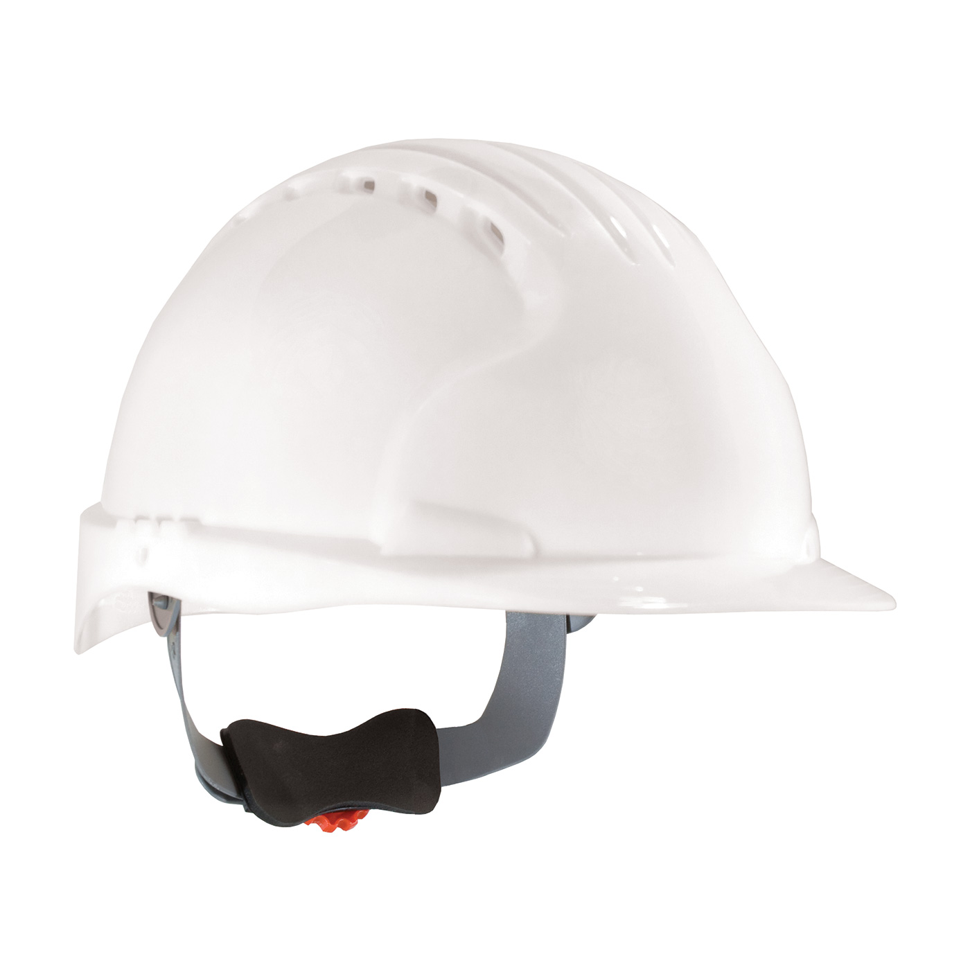 280-EV6151V PIP® JSP® Evolution® Deluxe 6151 Standard Brim, Vented Hard Hat with HDPE Shell, 6-Point Polyester Suspension and Wheel Ratchet Adjustment - White