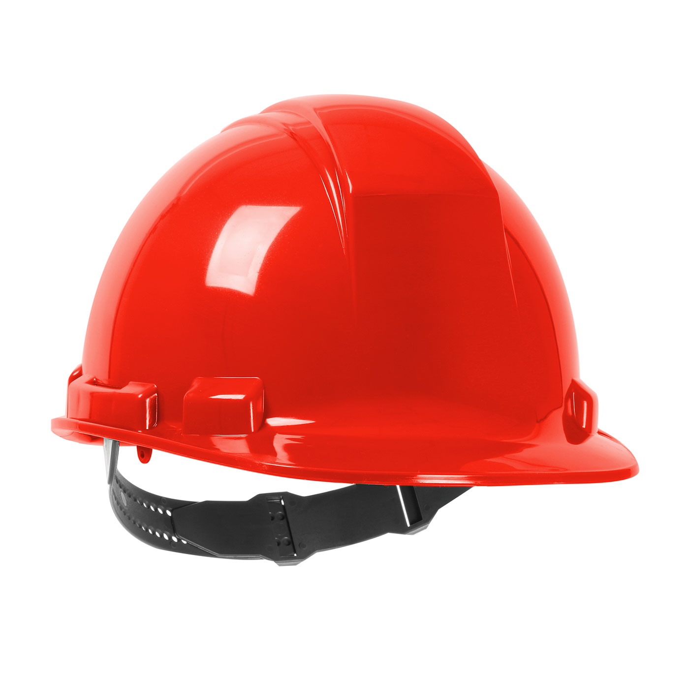 280-HP241 PIP® Dynamic Whistler™ Cap Style Hard Hat with HDPE Shell, 4-Point Textile Suspension and Pin-Lock Adjustment - Red