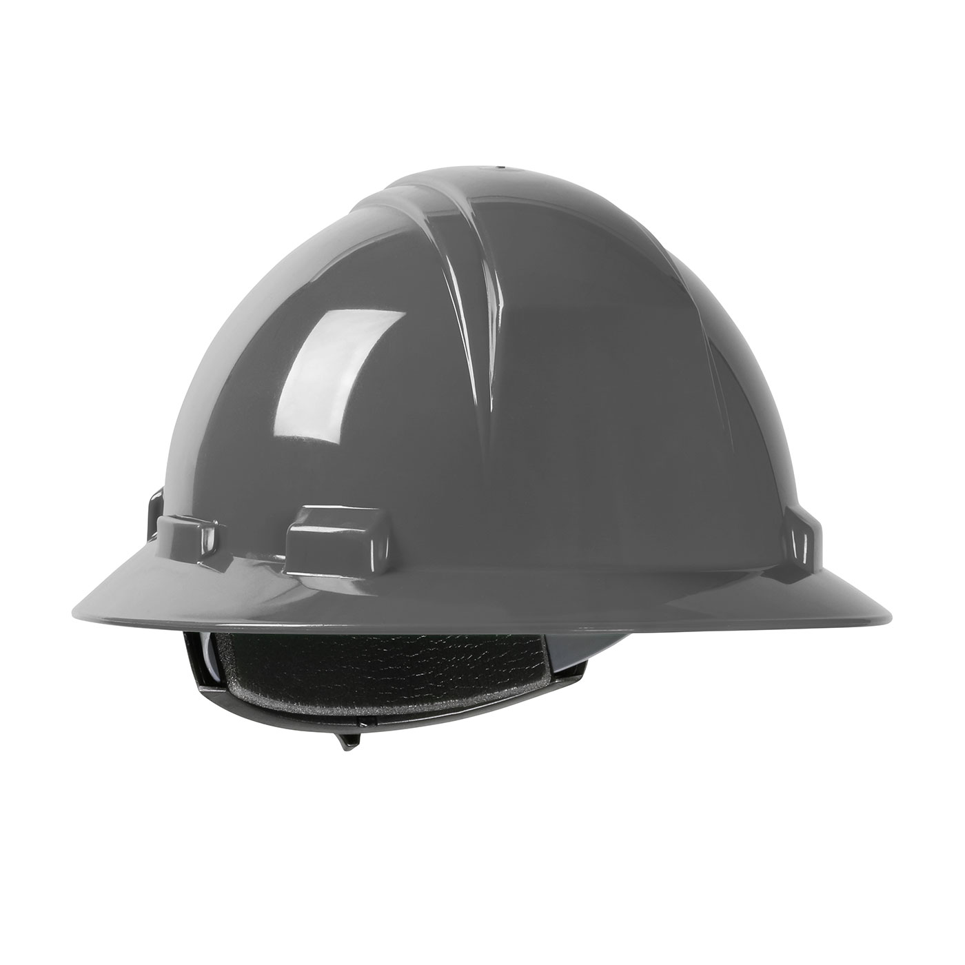 280-HP261R PIP® Dynamic Kilimanjaro™ Full Brim Hard Hat with HDPE Shell, 4-Point Textile Suspension and Wheel Ratchet Adjustment - Dark Gray