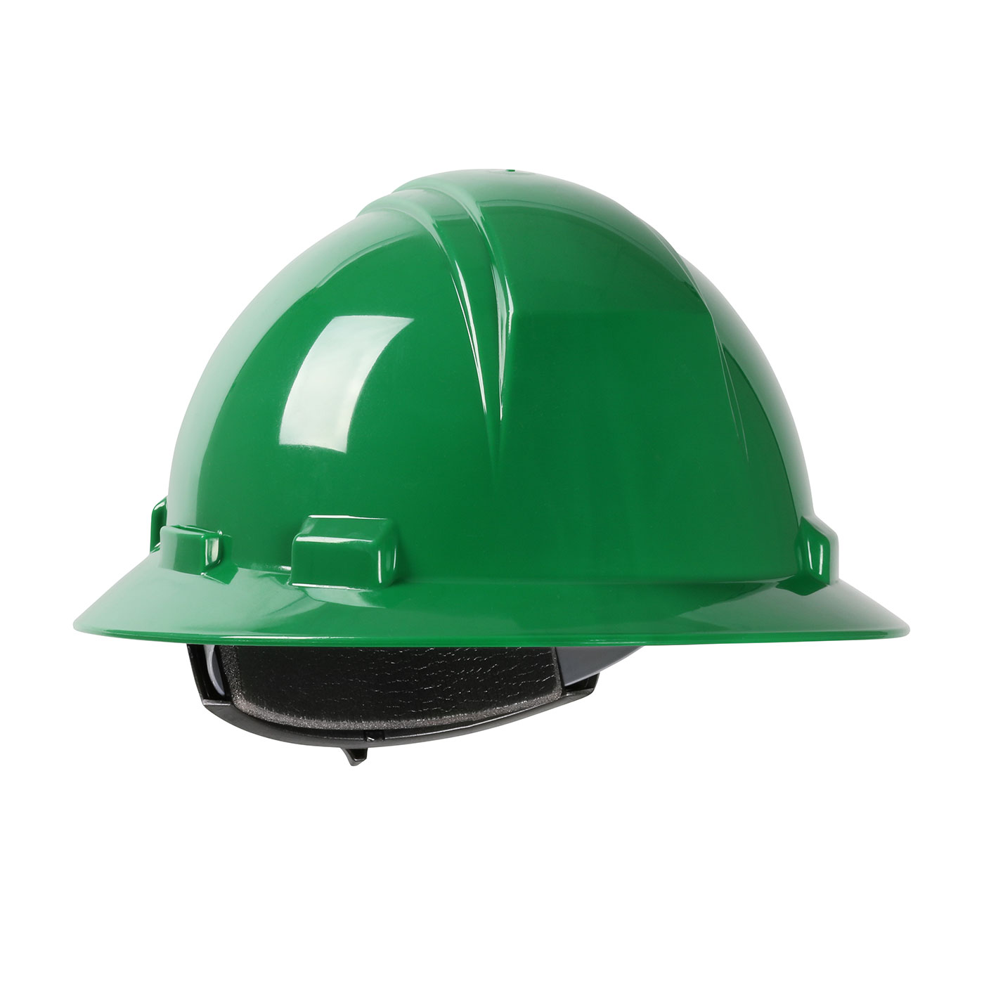 280-HP261R PIP® Dynamic Kilimanjaro™ Full Brim Hard Hat with HDPE Shell, 4-Point Textile Suspension and Wheel Ratchet Adjustment  - Green