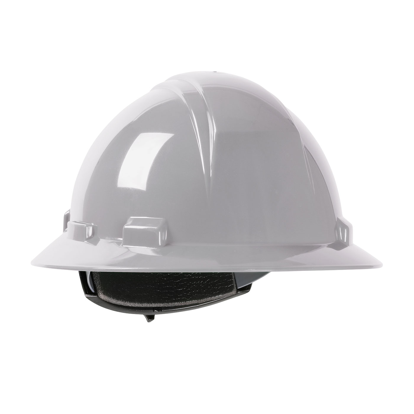 280-HP261R PIP® Dynamic Kilimanjaro™ Full Brim Hard Hat with HDPE Shell, 4-Point Textile Suspension and Wheel Ratchet Adjustment  - Gray