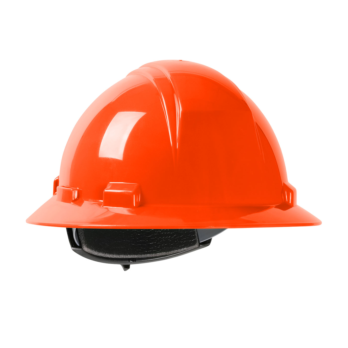 280-HP261R PIP® Dynamic Kilimanjaro™ Full Brim Hard Hat with HDPE Shell, 4-Point Textile Suspension and Wheel Ratchet Adjustment - Orange