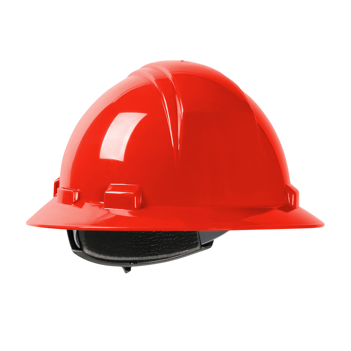 280-HP261R PIP® Dynamic Kilimanjaro™ Full Brim Hard Hat with HDPE Shell, 4-Point Textile Suspension and Wheel Ratchet Adjustment - Red