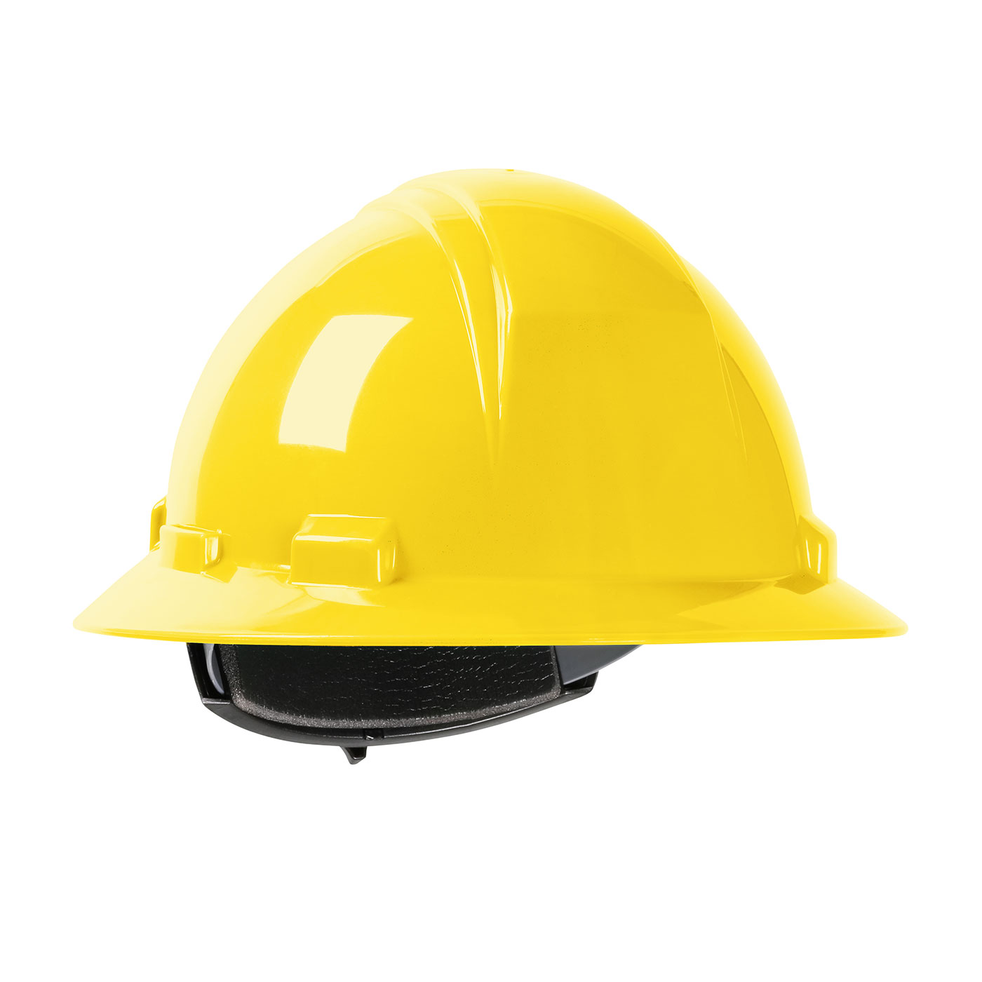 280-HP261R PIP® Dynamic Kilimanjaro™ Full Brim Hard Hat with HDPE Shell, 4-Point Textile Suspension and Wheel Ratchet Adjustment - Yellow