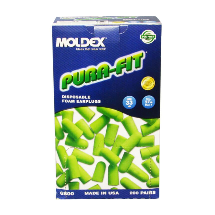Moldex® Pura-Fit® Bright Green Uncorded Foam Earplugs with 33 NRR