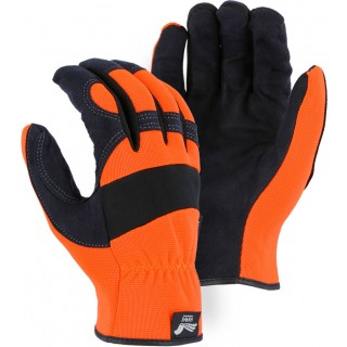 2136HO Majestic® Armor Skin™ Mechanics Glove with High Visibility Orange Knit Back