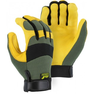 Majestic® Golden Eagle Mechanics Glove with Deerskin Palm and Knit Back