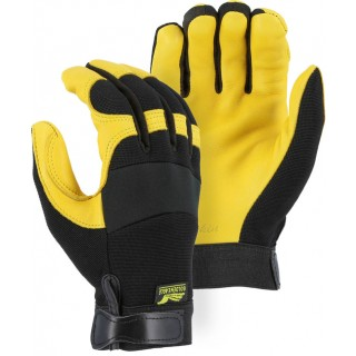 2150 Majestic® Golden Eagle Mechanics Glove with Deerskin Palm and Stretch Knit Back