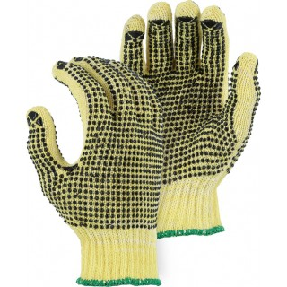 3110P Majestic® Cut-Less Kevlar® Cotton Plated A2 Cut Resistant Knit Glove with PVC Dots