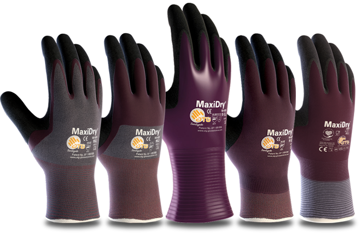 MaxiDry Ultra Lightweight Nitrile Grip Gloves