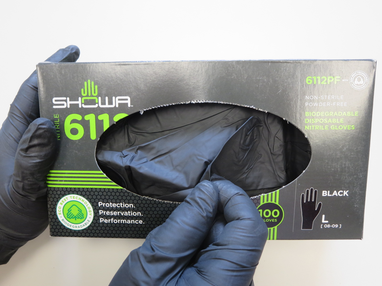 N-DEX® Black Biodegradable Powder-Free Latex-Free Nitrile Gloves