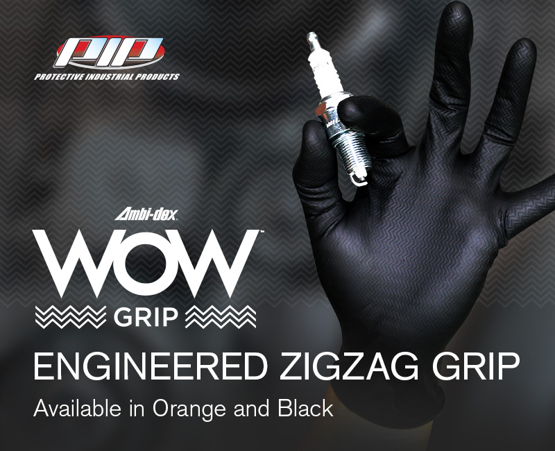 PIP® Ambi-dex® WOW™ Grip Disposable Nitrile Gloves