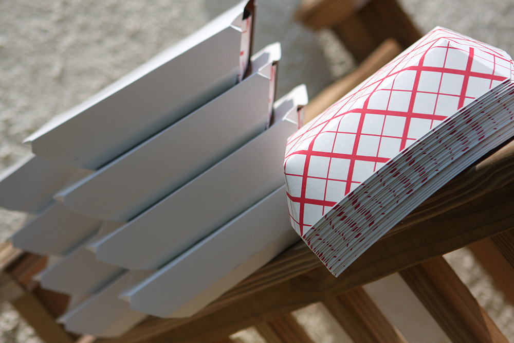 Compostable Red Checkered Food Trays