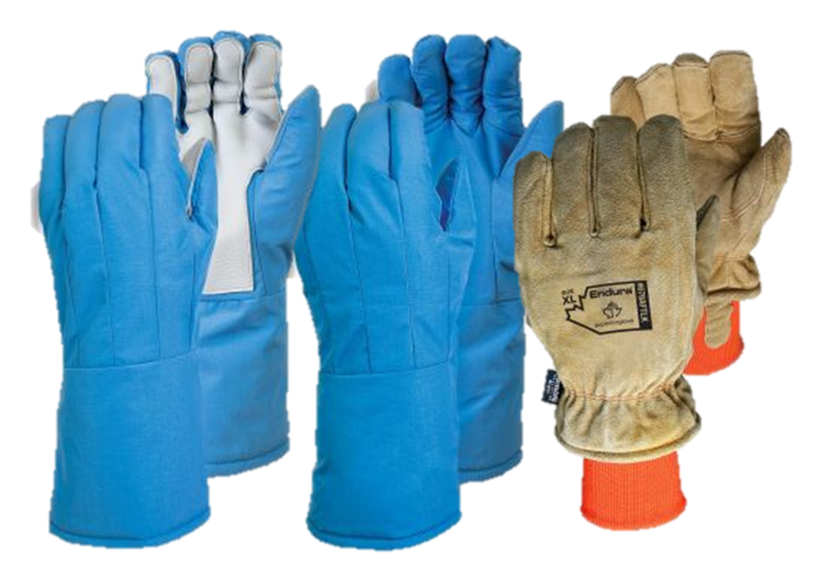 SnowForce™ Freezer Gloves and SnowForce Cryogenic Gloves With Porelle™ Waterproof Liner