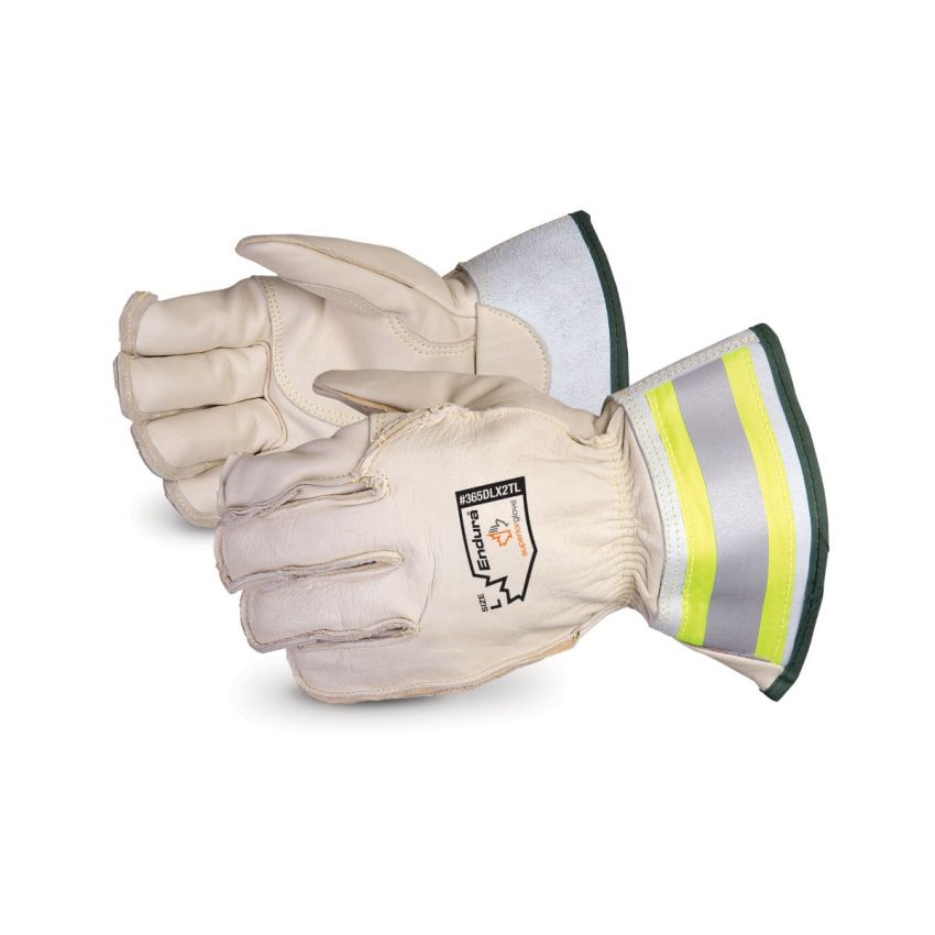 365DLX2TL - Superior Glove®  Endura® Deluxe Winter Lineman Gloves With 2` Reflective Gauntlet Cuff