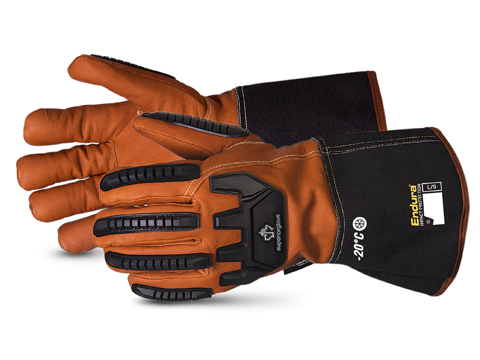 375GTVB Superior Glove®  Endura® Winter Anti-Impact Goatskin Driver Gloves with Oilbloc™ and Double Weight Thinsulate™ Lined