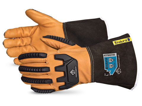 #375KGTVB Superior Glove® Endura® Oilbloc Winter Anti-Impact Kevlar®-Lined Goatskin Driver Cut Gloves