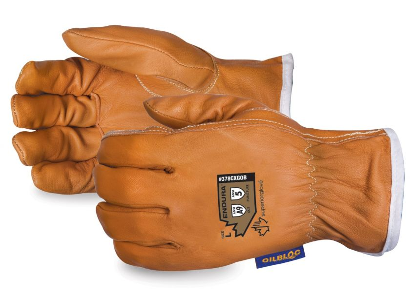 #378CXGOB Superior Glove® Endura® High Cut Goat-Grain Driver Gloves w/ Oilbloc®