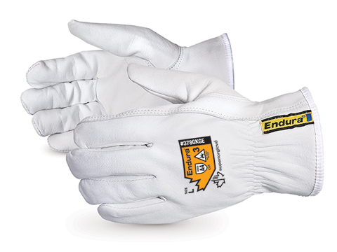 378GKGE - Superior Glove® Endura® Cut-Resistant Arc Flash Goat-Grain Driver Glove