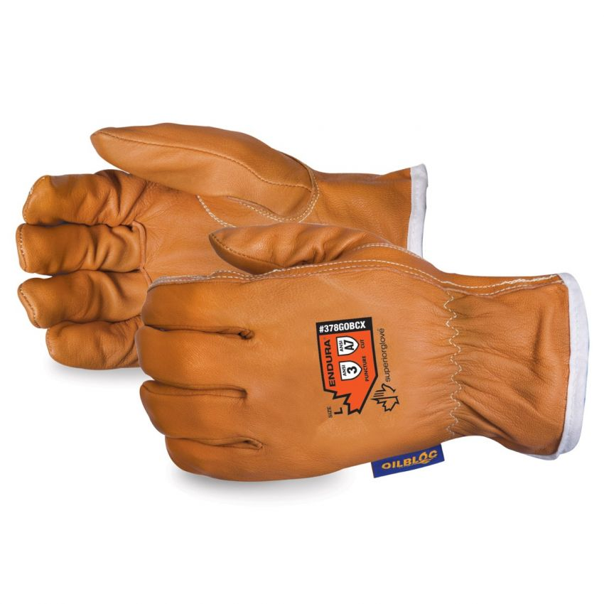 #378GOBCX Superior Glove® Endura® High Cut Goat-Grain Driver Gloves w/ Oilbloc®