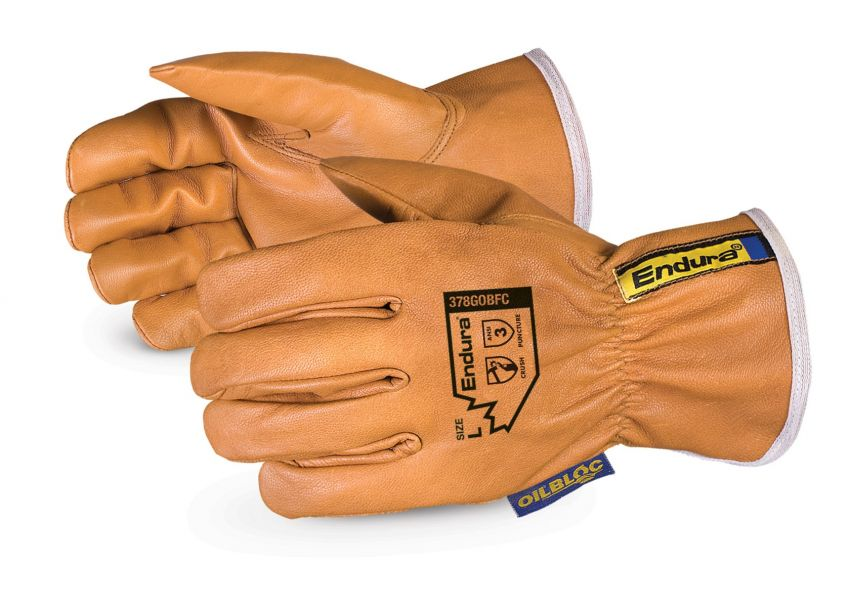 378GOBFC Superior Glove®  Endura® Oilbloc™ Goat-Grain Driver Gloves with PinchGuard Finger Caps