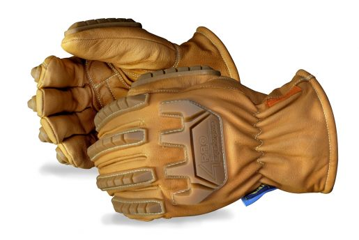 378KMT4P Superior Glove®  Endura® 4Pro™ Impact-Resistant, Goat-Grain Thinsulate Lined Driver Gloves With Oilbloc™