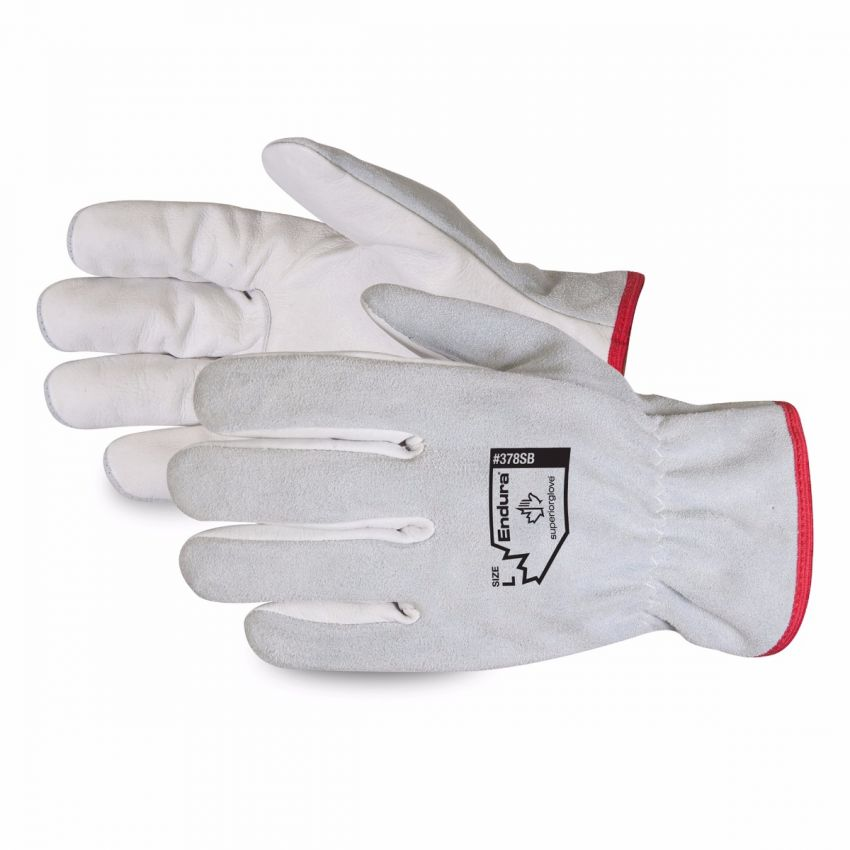 #378SB Superior Glove® Endura® Split-Leather Drivers Gloves with Cowgrain Palms